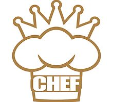 Head Chef's hat Crown logo by Style-O-Mat