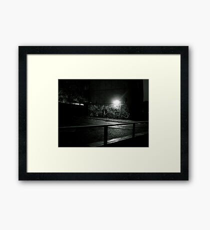 The Estate at night  Framed Print