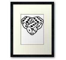 666 dice Framed Print
