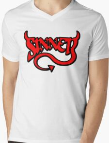Sinner Mens V-Neck T-Shirt