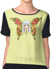 BUTTERFLY NURSE Chiffon Top