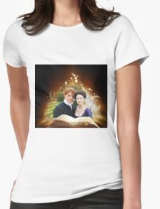 Outlander book/Jamie & Claire Womens Fitted T-Shirt