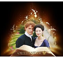 Outlander book/Jamie & Claire Photographic Print