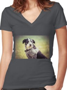 Farm Dog (Clothing Products) Women's Fitted V-Neck T-Shirt
