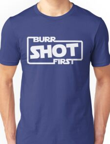 Burr Shot First Square Unisex T-Shirt