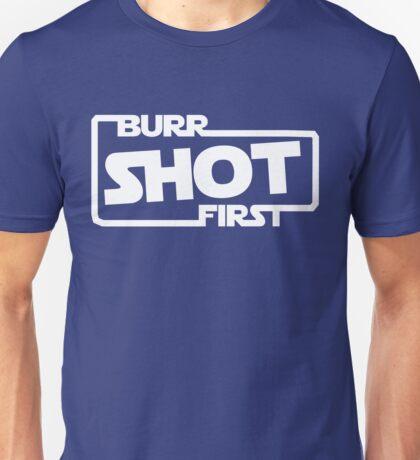 Burr Shot First Square Unisex T-Shirt