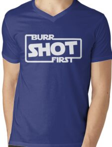 Burr Shot First Square Mens V-Neck T-Shirt