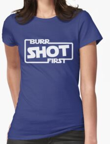 Burr Shot First Square Womens Fitted T-Shirt