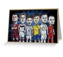 Football Stars of 2014 Greeting Card
