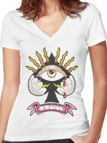 ACE OF SPADES Women's Fitted V-Neck T-Shirt