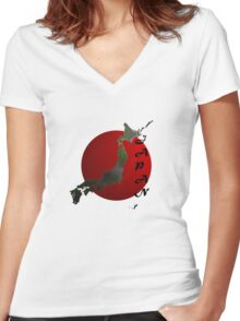 Japan Custom iPhone / Samsung Galaxy Case Women's Fitted V-Neck T-Shirt