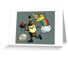 Molly Tov - Eat The Rich (Red/Black) Greeting Card