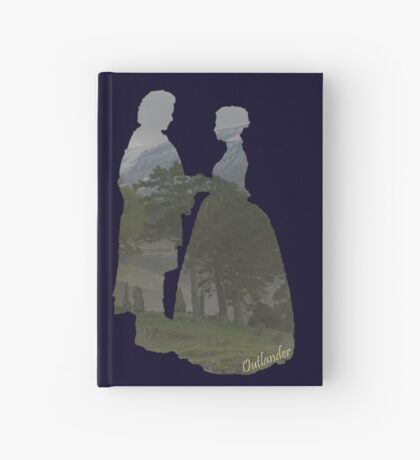 Jamie and Claire silhouettes Hardcover Journal
