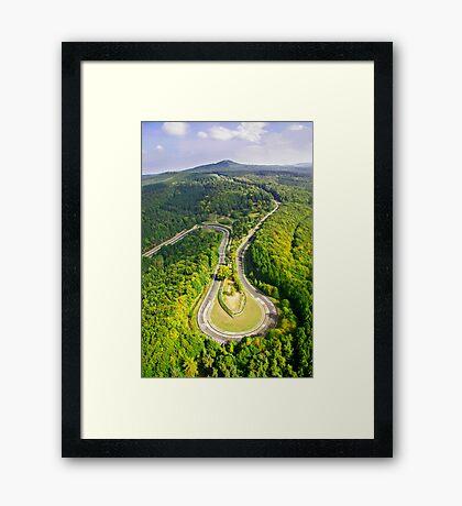Aerial shot #3 of the Nürburgring Nordschleife Caracciola Karussell Framed Print