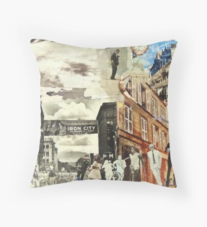The Past & Future City Throw Pillow