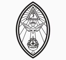 Aleister Crowley - OTO - Occult - Thelema (Black on White) by James Ferguson - Darkinc1