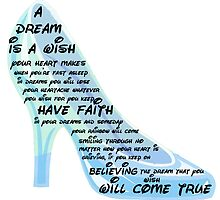 Cinderella - A Dream Is A Wish Lyric Print by acrossthesun