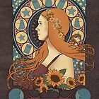 Amy Pond art nouveau , TARDIS by koroa