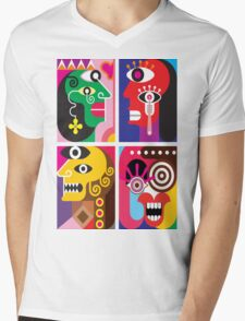 Abstracto 2 Mens V-Neck T-Shirt