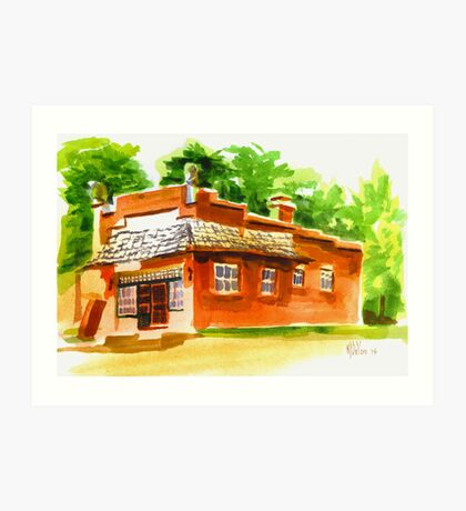 AV Art Studio in Watercolor Art Print