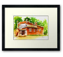 AV Art Studio in Watercolor Framed Print