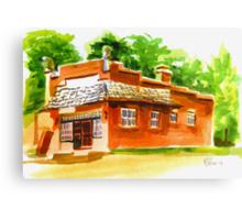 AV Art Studio in Watercolor Canvas Print