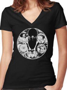 Realms Artwork Women's Fitted V-Neck T-Shirt