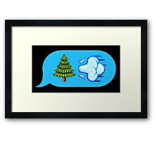 Blowing Trees Framed Print
