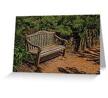 Bench in the Gardens Greeting Card