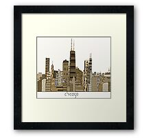 chicago city vintage  Framed Print