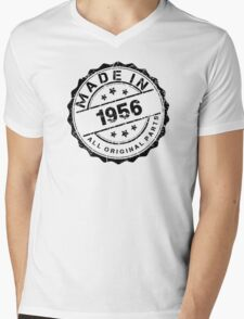 MADE IN 1956 ALL ORIGINAL PARTS Mens V-Neck T-Shirt