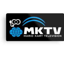 Mario Kart TV (White) Metal Print