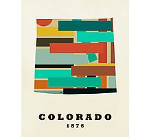 Colorado state map Photographic Print