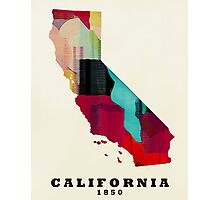 California state map Photographic Print