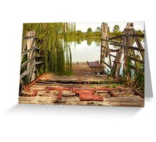 Old Tailem Bend Ferry Ramp, River Murray, South Australia Greeting Card