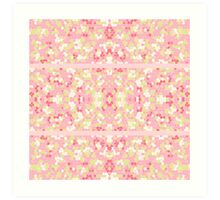 Sweet Pastel Pink Green Abstract Pretty Mosaic Art Print