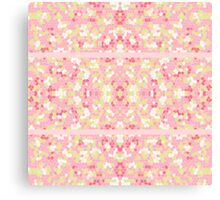 Sweet Pastel Pink Green Abstract Pretty Mosaic Canvas Print