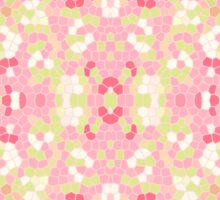 Sweet Pastel Pink Green Abstract Pretty Mosaic Sticker