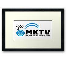 Mario Kart TV (Black) Framed Print
