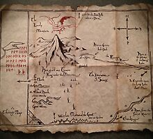 Thorin Oakenshields Map - Digital Artwork  by Daniel Watts