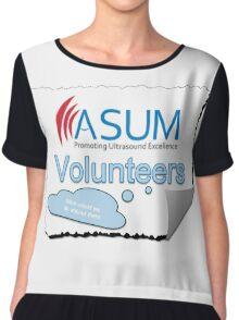 ASUM Volunteer badged Chiffon Top