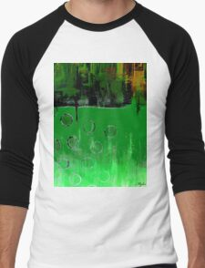 GREEN EMERALD GREEN ABSTRACT Men's Baseball ¾ T-Shirt