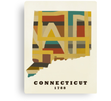 Connecticut state map Canvas Print