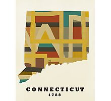 Connecticut state map Photographic Print