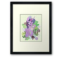 Twilight, Spike and Succulents (+ Background) Framed Print