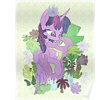 Twilight, Spike and Succulents (+ Background) Poster