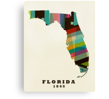 Florida state map Canvas Print