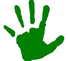 Green Handprint by kwg2200
