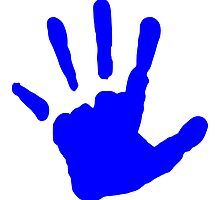 Blue Handprint by kwg2200