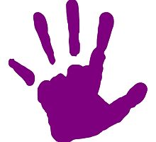 Purple Handprint by kwg2200